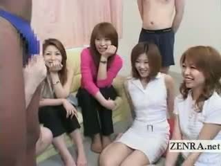 Subtitled Bizarre Japanese CFNM With Black Man In Thong