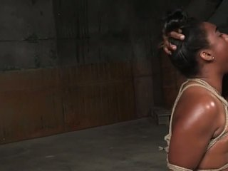Tied up Black Girl Can't Stop Gagging on Dicks: Porn d3