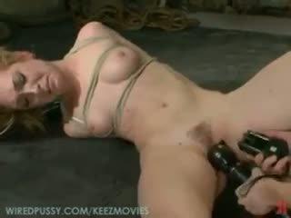 vibrator, girl on girl, tied up
