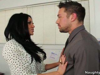 Veľký breast sekretárka audrey bitoni has chief wiener v objednať na zachovať ju práce