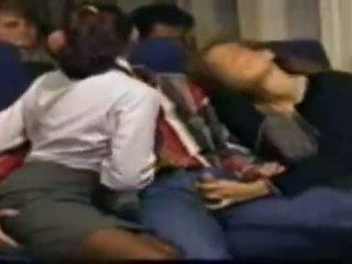 Meia hospedeira sexo (in o airplane)
