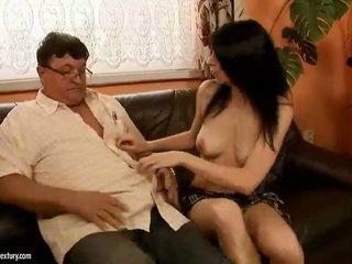 Lucky grandpa fucks hot girl