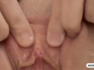 squirting, solo, blond