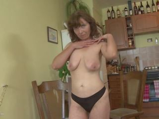 Amateur Mother with Saggy Tits and very Hairy Pussy.