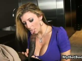 Sarah Jay is a blonde haired MILF who loves dark