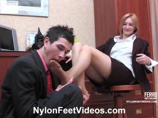 hardcore sex, office sex, foot fetish