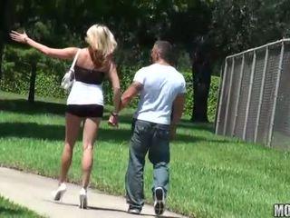 Skinny slut rides a cock