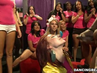 Facial cumshots on girls in the audience