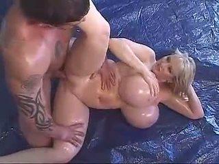 pornosterren, geolied, mega big tits