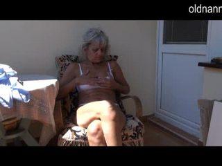 masturbating, granny, old young