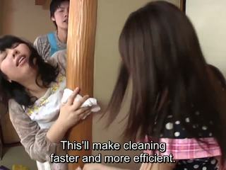 Subtitled jaapani risky seks koos voluptuous ema sisse
