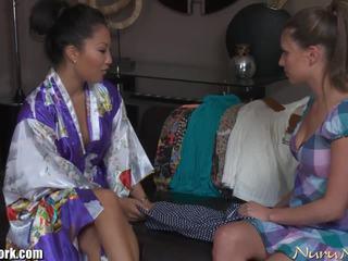 NuruNetwork Asa Akira Lesbian Nuru Massage Sex