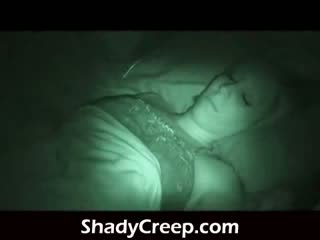 Wake a sleeper up late at night shoving dong in her face