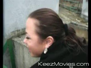 Cock sucking outdoors