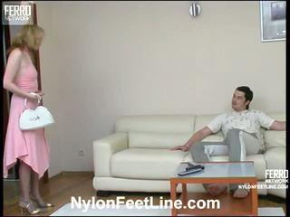 Irene adam nailon footsex video