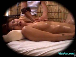 masaż, naoliwione, belly