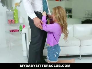 Mybabysittersclub - dễ thương trẻ người giử em bé fucks cha vì trả thù