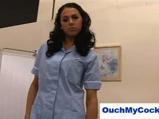 Nasty nurse louise jenson gives patient a harsh handjob