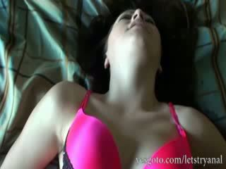 Amateur Alisa Ford first time anal try...