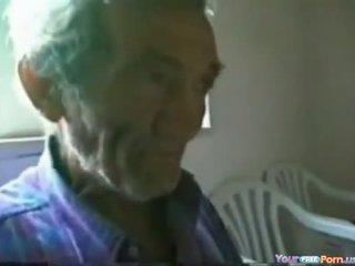 Jerking Off A Granddad
