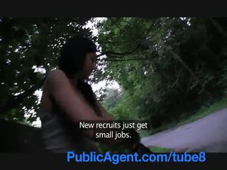 PublicAgent Rollerblade girl with tight pussy fucked outside