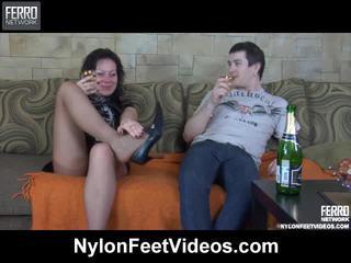 Sibylla ja vitas breathtaking sukkahousut jalkaa toiminta