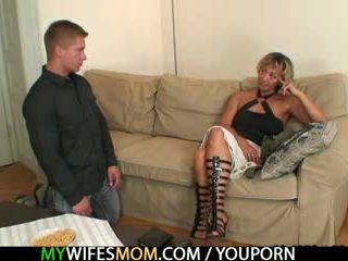 Hot mother in law agrees to suck his h...
