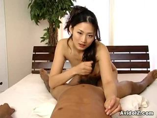 Hot Asian College Cutey Pie Touches Onto Janitor Dong.