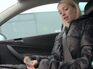 Czech Slut Mina Flashes Her Massive Tits