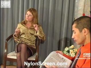 kul lagerhålla kön se, nylon slips and sex färsk, kul sex and nylon stockings verklig