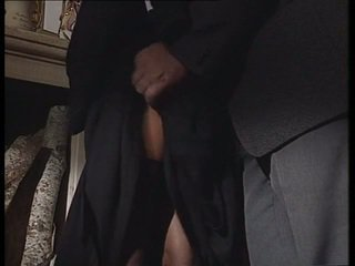 Italian Nun taking fat cock in her ass