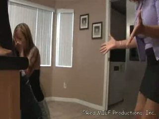 A-milf-catches-daughter-sucking-off-her-brother