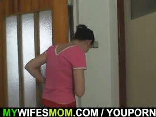 Oldie fucks her daughter s man