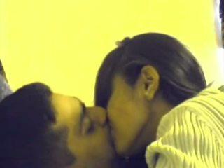 fan, sugande, kyssar
