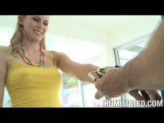 Disgraced 18: blondine slet sunset loses haar onschuld na being tied en gagged!