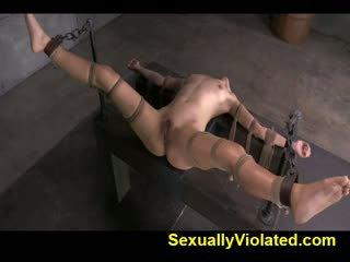 Geneukt door ten inch bbc in strict bondage