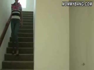 Mommy caguht her stepdaughter having sex and joined them