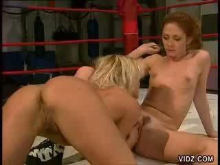 Two sexy gals in boksen ring sexcapade