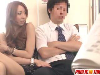 japonês, sexo em público, milf sex