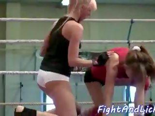 Eurobabe dykes wrestle nach exercising, porno b9