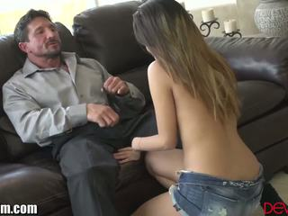 MILF Makes Sure Cock is Safe for Daughter