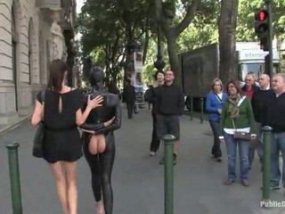 sexe publique, latex, bondage sexe