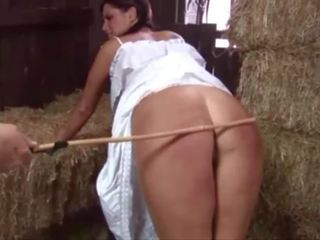 Double Caning in the Hay Barn, Free Whipping HD Porn 7d