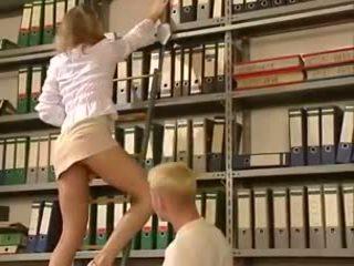 blondīnes, trieciens darbu, ass licking