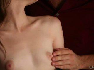 Cute Alice March jizzed on perky tits