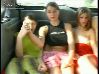 млад, момичета, публичен