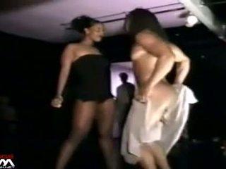 שחור נשים grope & stroke male stripper mystery