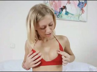 Babe is masturbating well