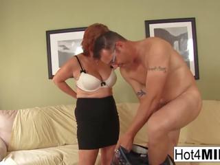 Sexy Redheaded MILF gets Cum on Her Big Tits: Free Porn db