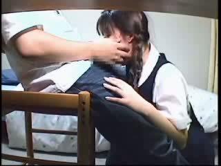 Japans schoolmeisje geneukt video-